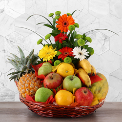 FLOWERS & FRESH FRUIT